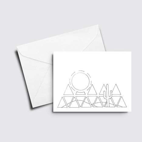 Desert Triangles - Color it Yourself