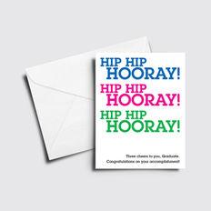 Hip Hip Hooray Graduation Card