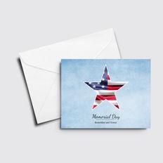 Single Star Memorial Day Card