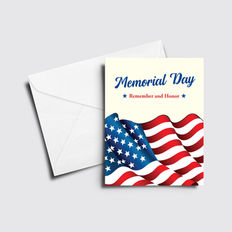 Remember and Honor Memorial Day Card