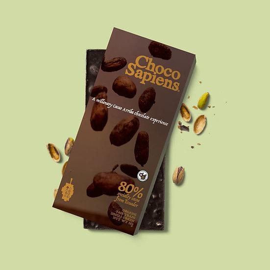 Chocosapiens chocolate bar 80% specialty Cacao Arriba 100gr