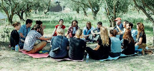 Volunteer Sharing Circle , Elpida Home Refugee camp, 2016 maya rimer