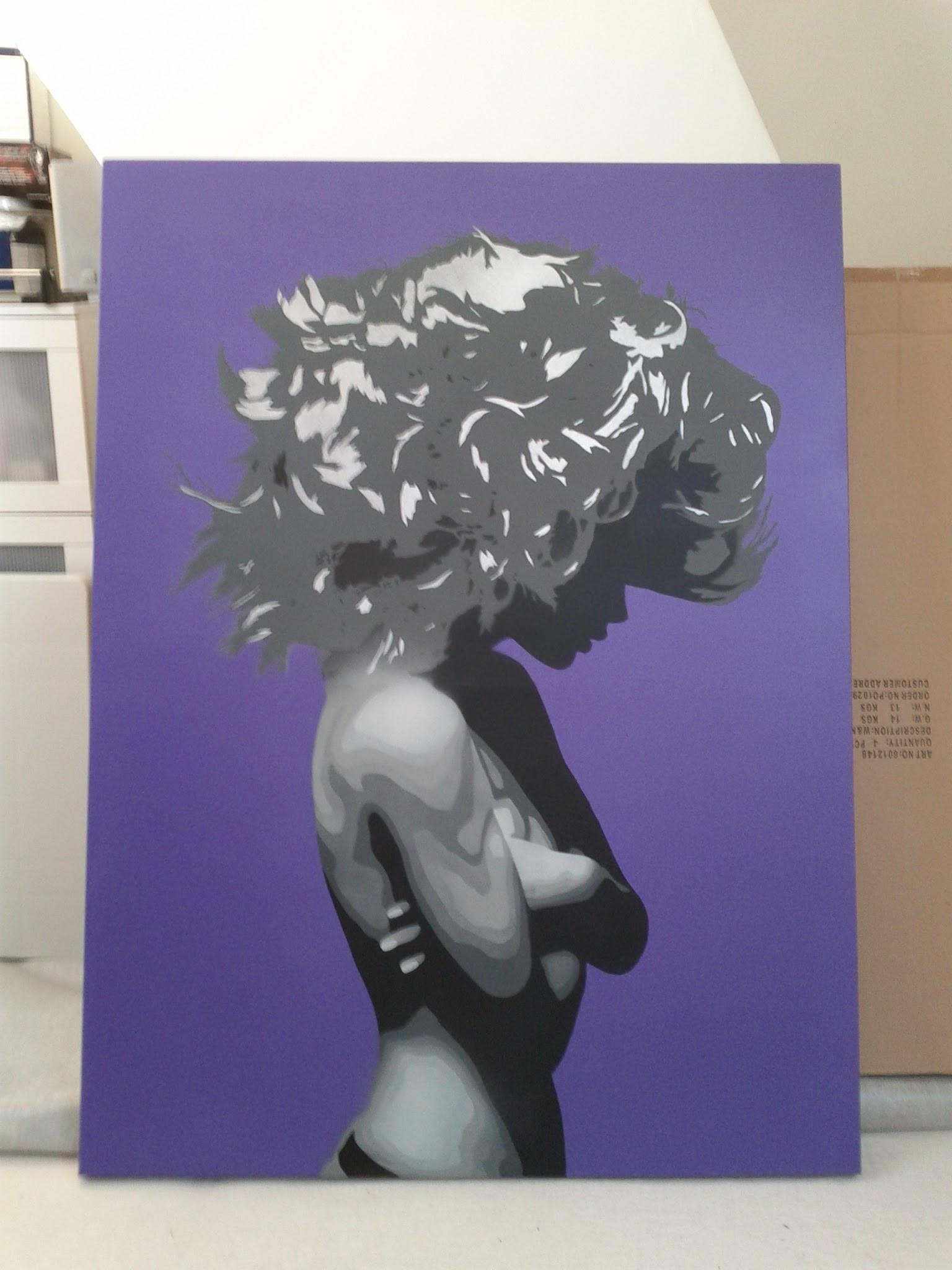 Bungle - Silk or Satin VioletSilver Canv