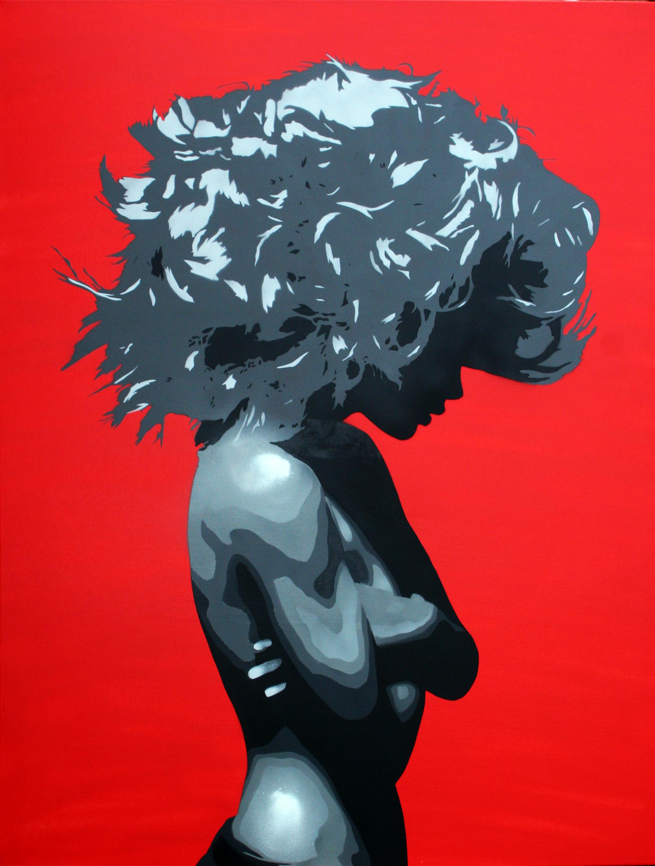Bungle - Silk or Satin RedSilver Canvas.
