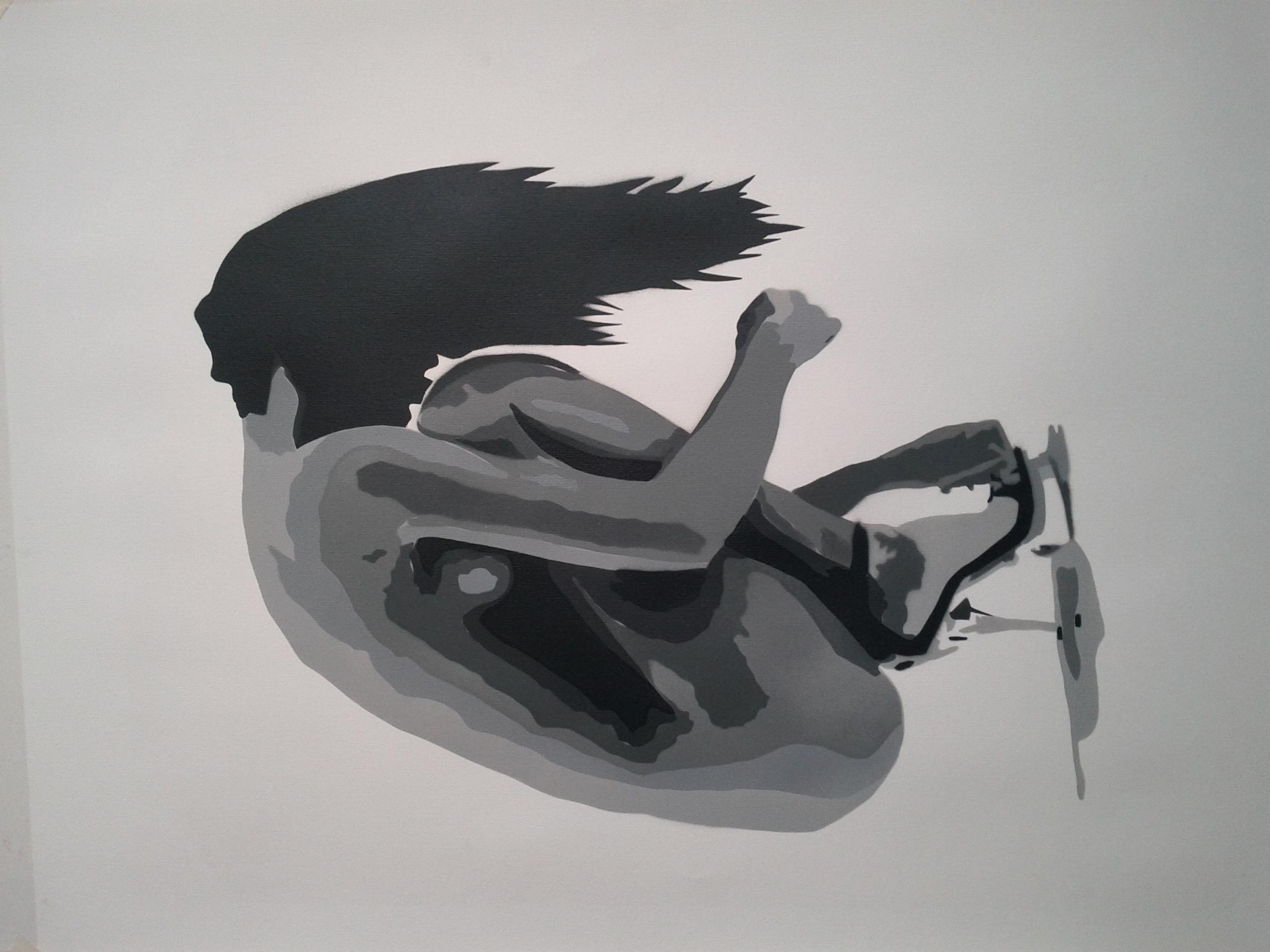 Bungle - Broken Stencil Canvas