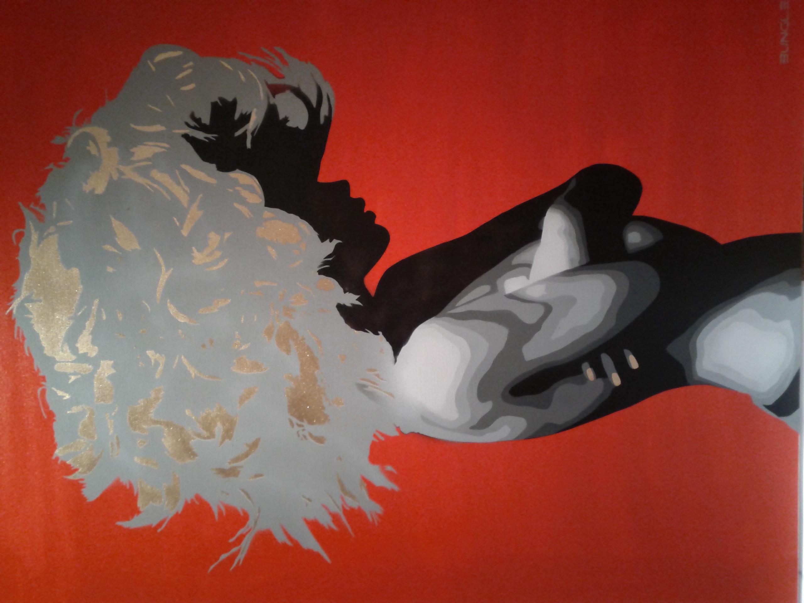 Bungle - Silk or Satin RedGold Canvas