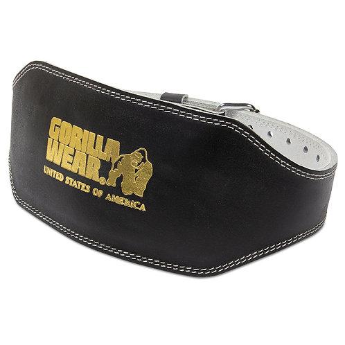 Full Leather padded belt-Black-2XL/3XL