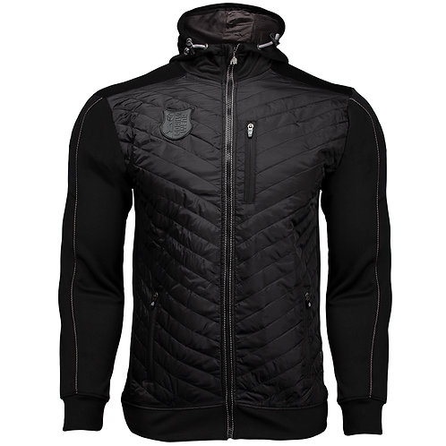 Jefferson Front Padded Jacket - Black/Grayt