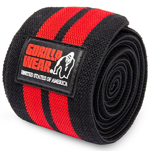Knee Wraps 79 Inch Black/Red