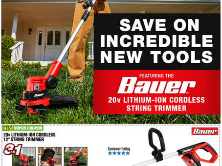 New Lawn Tools at Harbor Freight!