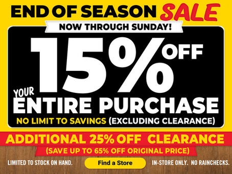 Tractor  Supply Store Wide Sale!