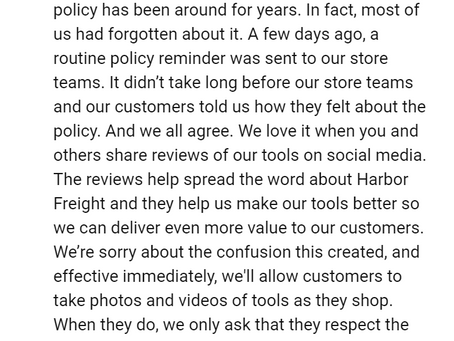 Eric Smidt, CEO of Harbor Freight Responds