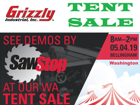 Grizzly Tools Tent Sale!