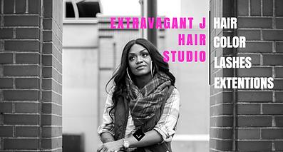 ExtravagantJ Hair Web Design