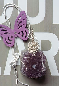 healign crystals, chakra, crystal pendant, handmade jewellery, amethyst