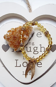 healign crystals, chakra, crystal pendant, handmade jewellery, citrine