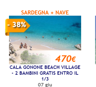 SCADUTO: Cala Gonone beach Village