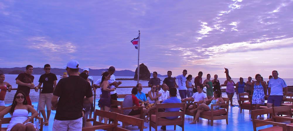 Huge open deck at Catamaran Vision