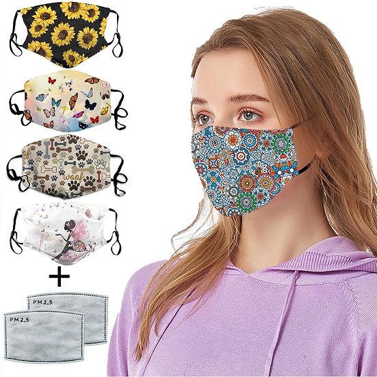 Mascarilla Mascarar Cotton Face Mask Pm2.5 Activated Carbon Mask Washable