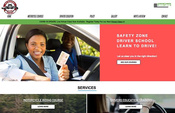 Local Business Website & Class Bookings.