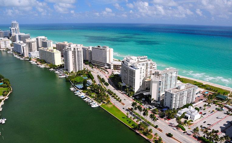 Aerial view of Miami South Beach, Florid