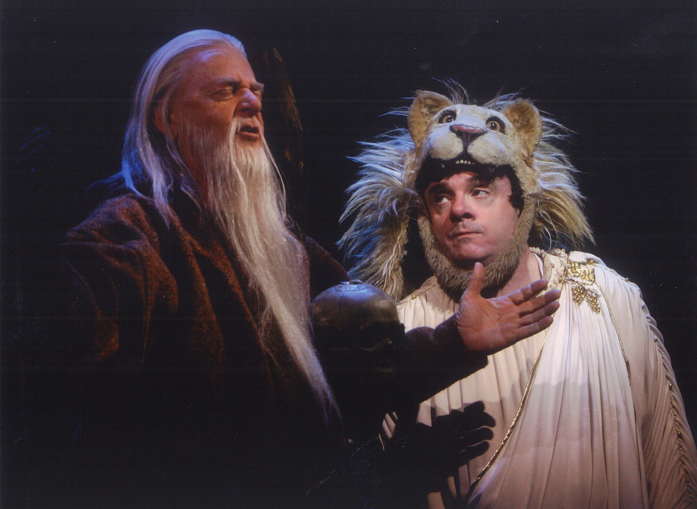"""John Byner and Nathan Lane on Broadway in """"The Frogs."""""""