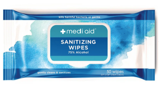 VIP (50 count) Mediad sanitizing wipes