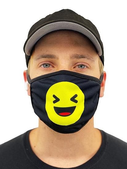 Laughing Emoji Face Mask With Filter Pocket