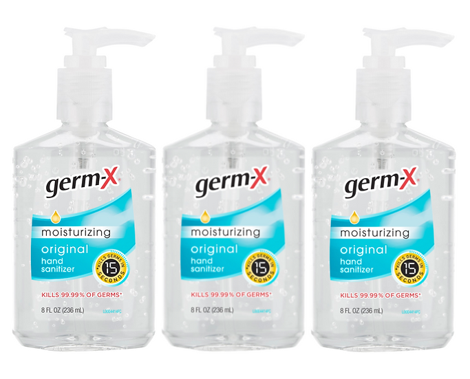 VIP SPECIAL OFFER: Germ-X Original 8oz Hand Sanitizer 3 Pack