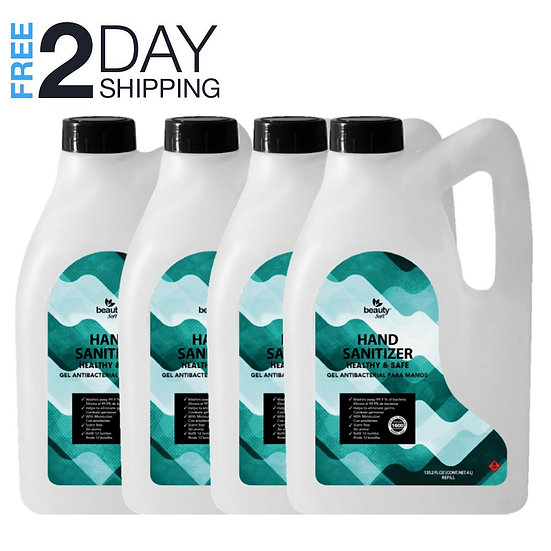 Hand Sanitizer Gallon Pack of 4 (540.8 oz) FDA Approved