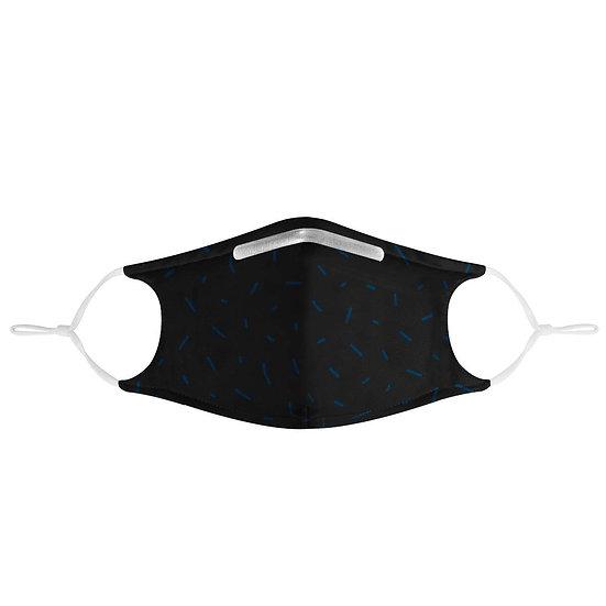Sprinkled Pattern Black Mask | Fashion Face Mask