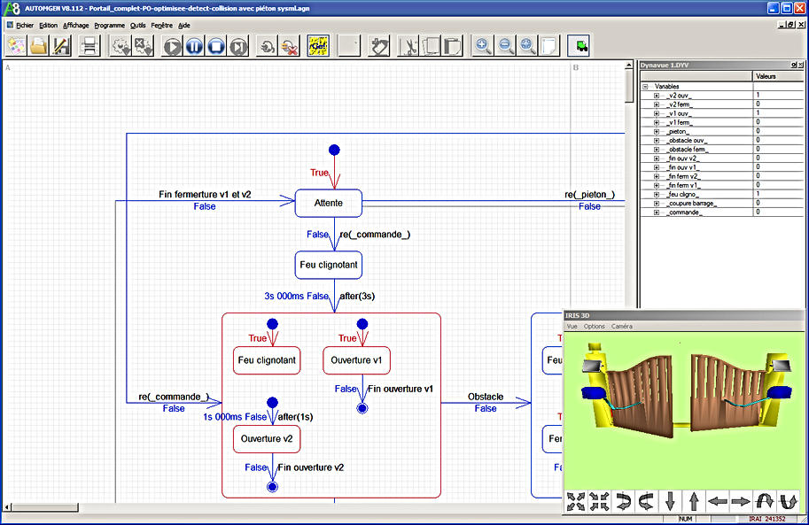 SysML pilotage portail