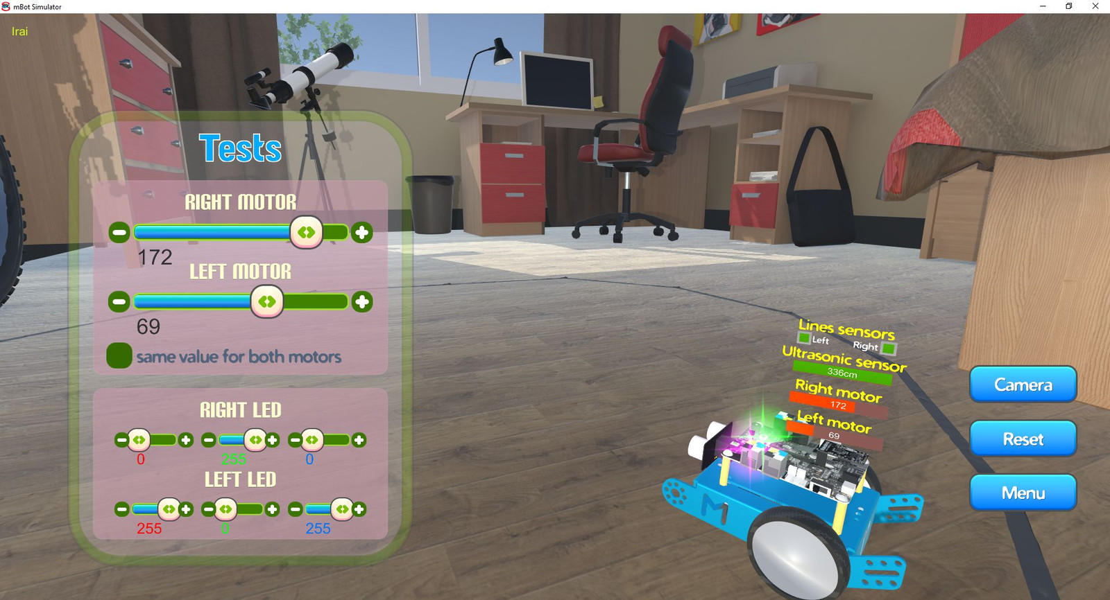 irai | mBot simulator / Simulateur mBot
