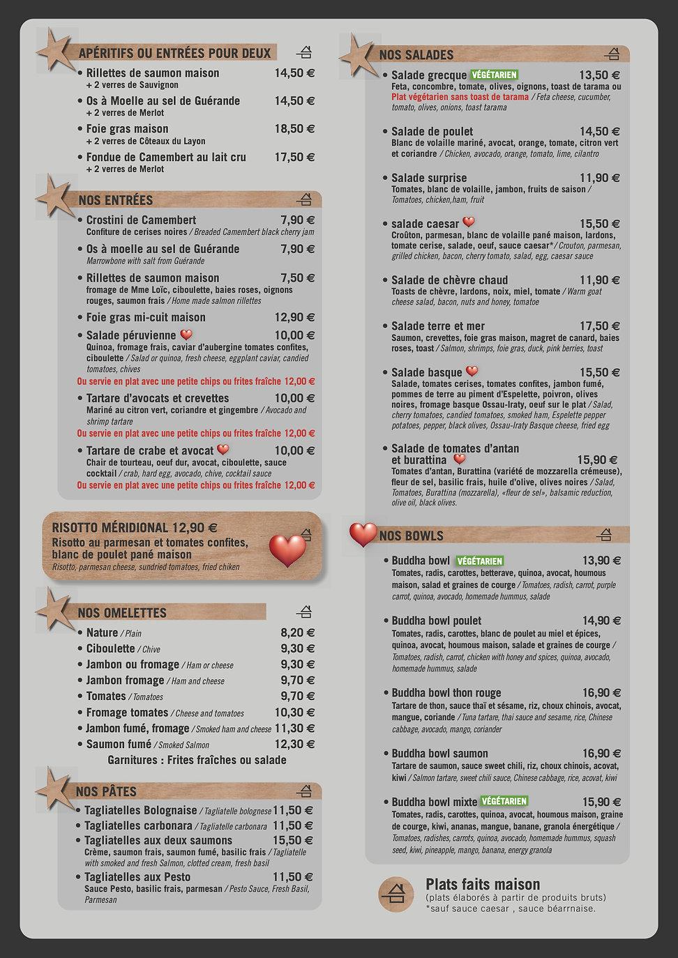 Carte Le Café de Caen