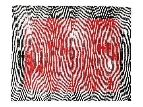 "Vertical Grain back and red ink - 8 3/4"" x 10 1/2"" inches"
