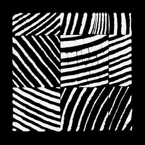 "Douglas Fir Block Print - 4 1/2"" x 4 1/2"" inches"