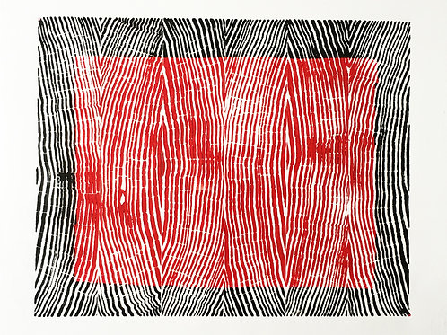 """Vertical Grain back and red ink - 8 3/4"""" x 10 1/2"""" inches"""