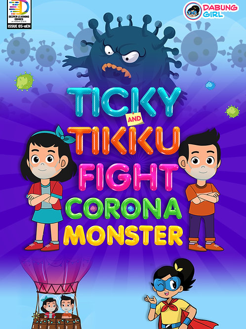 Ticky and Tikku Fight Corona Monster [Set of 50 Books]