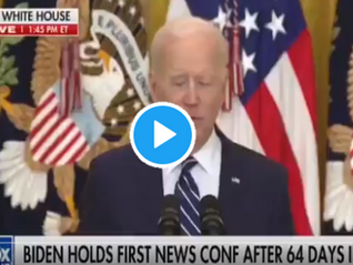 WATCH: Biden Goes Blank in First Press Conference