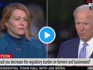 WATCH: Biden Lectures Woman on Chicken Turds