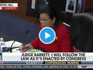 WATCH: Mazie Hirono asks Amy Coney Barett if she has ever committed 'assault of a sexual nature'