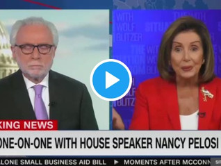 WATCH: Pelosi Badgers Blitzer