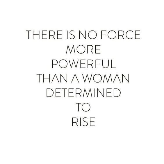 Woman determine to rise