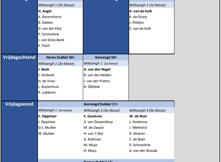 Indeling competitie