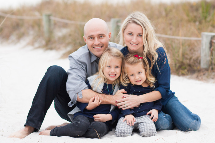 Beach Family Portraits on Siesta Key