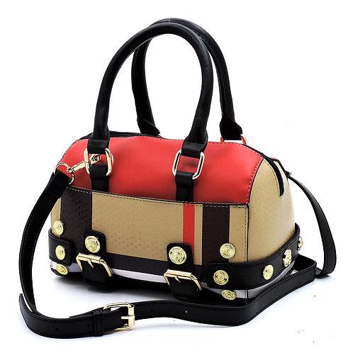 Tartan Plaid Mini Boston Handbag
