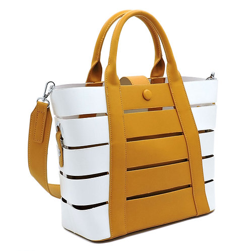 Colorblock Stripe 2-in-1 Satchel