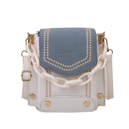 Crossbody Handbag with Acrylic Chain