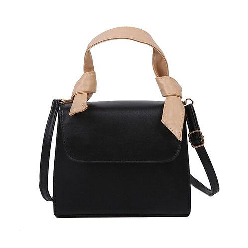 Portable Faux Leather Shoulder Purse