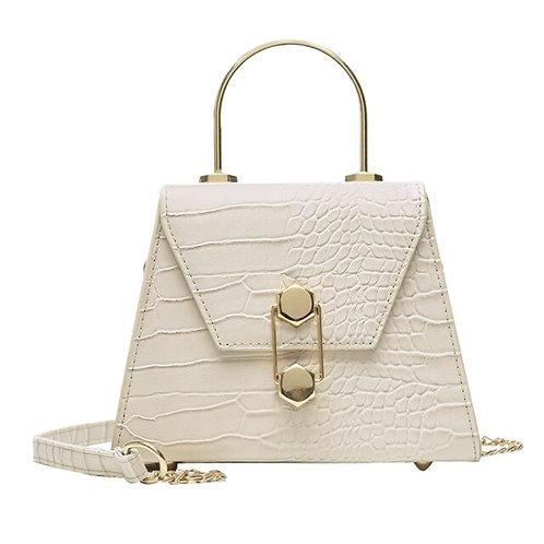 Stone Pattern Mini Shoulder Handbag